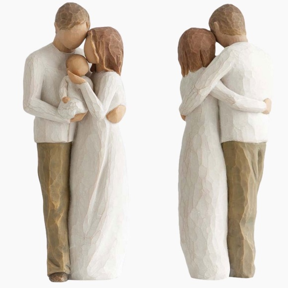 Willow Tree Our Gift New Baby w Parents Figurine